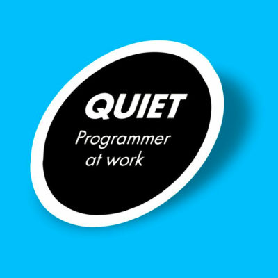 استیکر quiet programmer at work